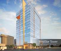 WestStar Tower at Hunt Plaza rendering side view