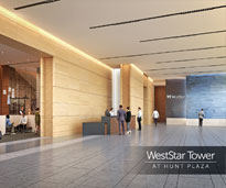 WestStar Tower at Hunt Plaza Lobby Interior Rendering